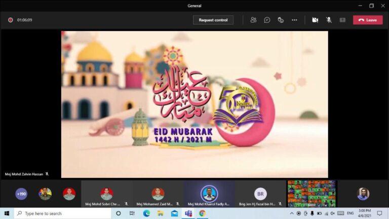 Malaysian Armed Forces Staff College (MAFSC) online Hari Raya Eid- ul- Fitri 1442 Hijrah